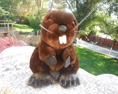Vintage Dakin Beaver 1987 Brown 10 inches  Made In Korea Ex :)
