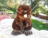 Vintage Dakin Beaver 1987 Brown 10 inches  Made In Korea Ex :)