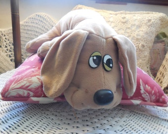 Pound Puppies,Stuffed Dog,Stuffed Animals, Vintage Stuffed Animals, Sweet Tan Color:)