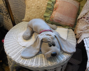 Pound Puppie/Puppy Gray/19 In Long :)Stuffed Animals,Vintage Stuffed Animals,Vint Dog,Vint Stuffed Dog Not Included In Coupon Discount Sale