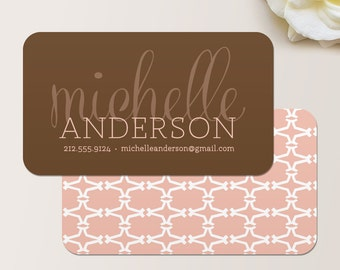 Luxe Business Card / Calling Card / Mommy Card / Contact Card - Interior Designer, Event Planner, Calling Cards, Chic Business Cards