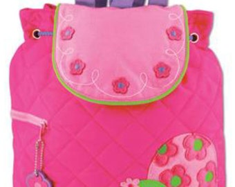 Backpack Quilted fabric Turtle girl Stephen Joseph includes-FREE personalization