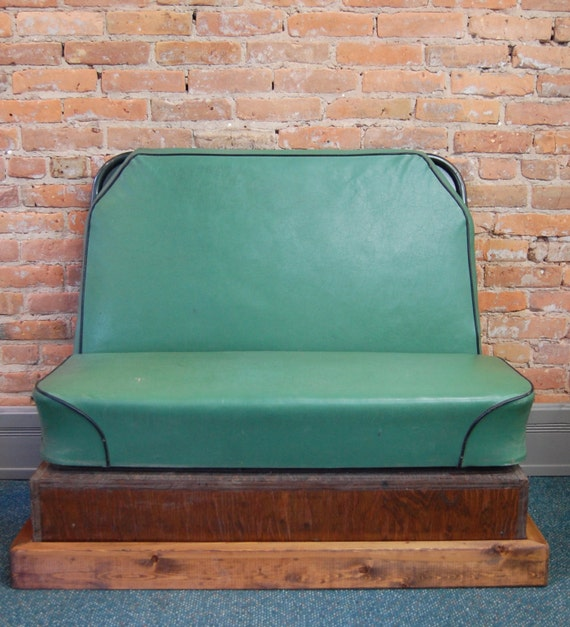 Antique Bus Seats : Reserved upcycled vintage school bus seat bench