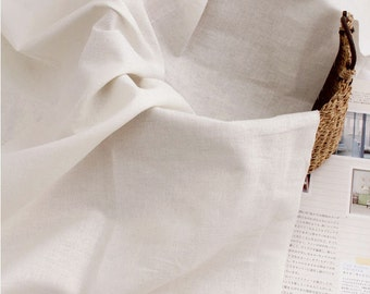 """Cotton Linen Blend - Ivory - 59"""" Wide - By the Yard 52409"""