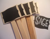 herb stakes, plant stakes, chalk board paper plant stakes