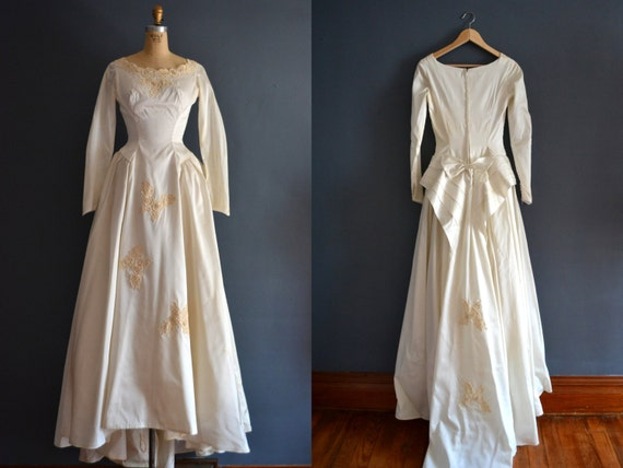 Sale 1950s wedding dress vintage 50s wedding dress for 1950s style wedding dresses for sale