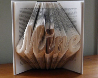 book folding unique gift be mine folded book art boyfriend gifts