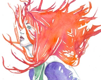"""Fine Art Giclee Watercolor Print """"Clearly Clary"""""""