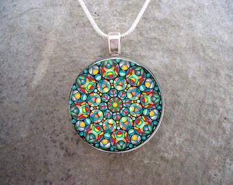 Celtic Jewelry - Glass Pendant Necklace - Celtic Decoration 26