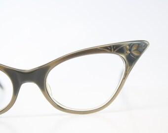 Vintage Small Cat Eye Glasses vintage Eyewear Retro Glasses