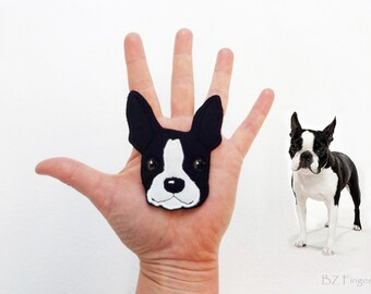 Boston Terrier Handmade Patch.