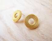 Summer sun earrings, stud earrings (24 karat plating), golden earrings