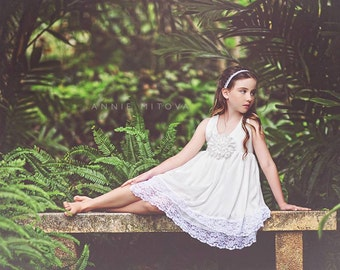 SALE/// Ivory Flower Girl Dress with layers of chiffon