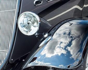 Dark Blue Vintage Car -- Fine Art  Photography Print -- Photo, Home Decor, Vintage Car, Automobile, Chevrolet, Art