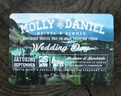Wedding Invitation Set Woodland Camping Mountains Theme