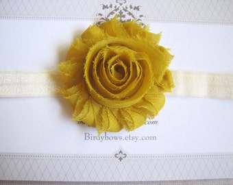 Mustard Headband, Baby Headbands, Baby Girl Headbands, Baby Girl Headbands, Infant Headbands, Baby Bows
