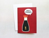 UMAMI LOVE CARD — Who's Umami, Happy Soy Sauce Cartoon, Little Blank Card, Who's Your Daddy?