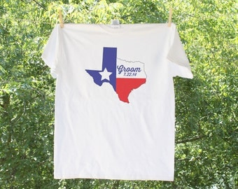 Texas Groom with wedding date (can personalize with wedding colors) - GC