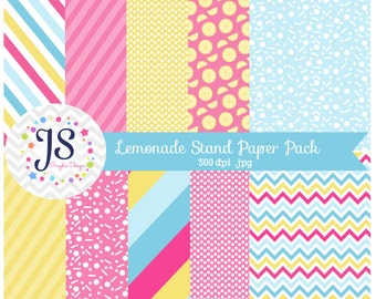 INSTANT DOWNLOAD, lemonade stand paper pack, for commercial use, personal use