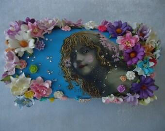 "Hand decorated ""Flower Chic"" Jewellery box"