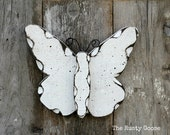 Spring Decor, Butterfly Decor, Chic Decor, White Butterfly, Garden Decor, Cottage Decor, Rustic Butterfly, Primitive Butterfly, Shabby Decor