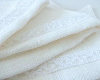 Bunting / Fabric Flag Banner / Pennant Nursery / Porch / Patio Decor / Photo Prop / Lace / wedding