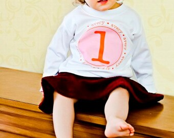 SHORT SLEEVE Personalized Name Initial or Birthday Number T Shirt Girls Boys Tee Baby Onesie High Quality Shirt