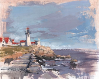 Eastern Lighthouse - Oil Painting on Board
