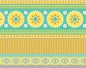 CLEARANCE - NOTTING HILL by Joel Dewberry - Banded Bliss (Mustard) - 1 Yard - Quilting Weight Cotton Fabric