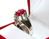 Ruby Ring For Men, Sterling Silver Ring For Man, Mans Ring With Stone