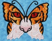 Tiger Butterfly Applique Embroidery Designs 4 sizes,    hoops 4x4 5x7 6x10   INSTANT DOWNLOAD