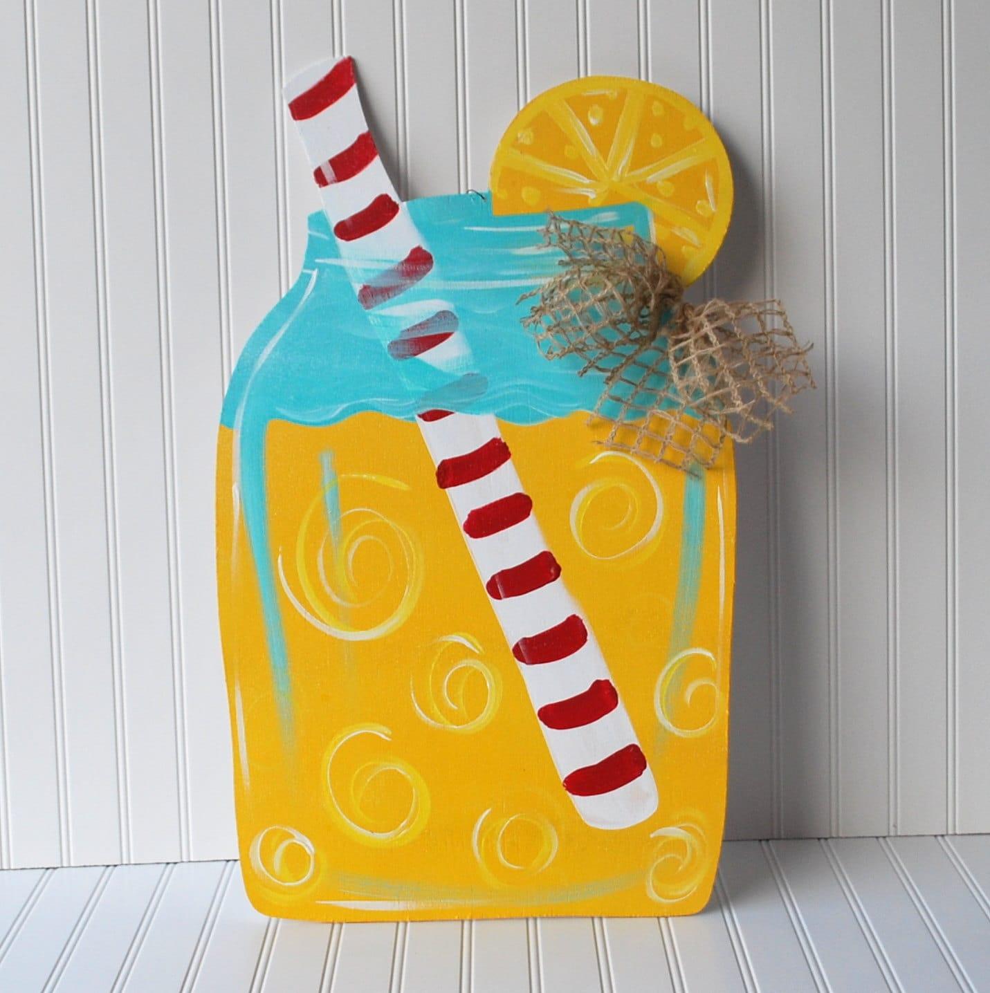 Mason jar door hanger summer door hanger door by for Decoration hangers