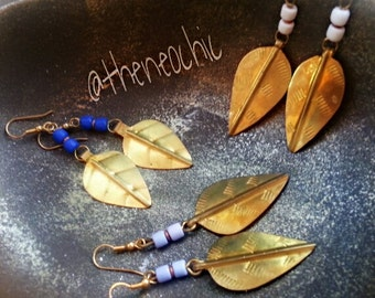 African Spear Head Earrings