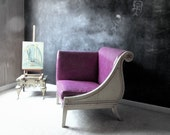 Reserved for J: Purple Photographer's Chair. One Armed Chair. French Provincial. Photo Prop. Victorian