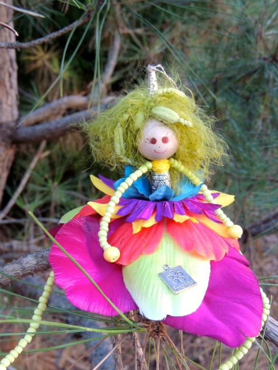 ON SALE 25% OFF. Flower Fairy Doll Ornament/decoration. - multicolor - Large