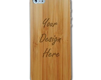 Personalized Bamboo iPhone 5/5s Wood Skin, Custom Wooden back for iPhone 5/5s,Carved iPhone Skin