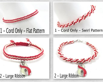 Latex Allergy Awareness Anklet, Macrame, Specifcally made for this cause!!