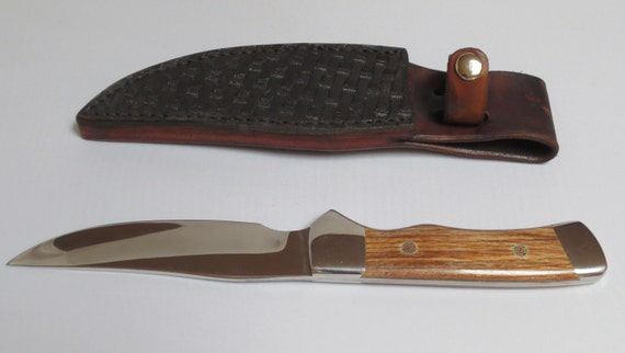 handcrafted steel hunting kitchen knife with leather sheaf 2 set of japanese handcrafted kitchen knife nakiri petit