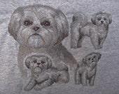 "Embroidered ""Shih Tzu Sketch"" Hoodie"