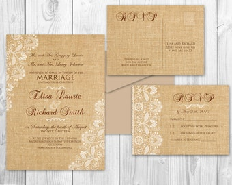 Printable Wedding Invitations - Printable Rustic wedding invitations diy - {Minneapolis Suite}
