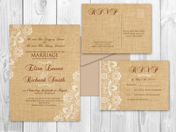 Wedding Invitations Mn: Printable Wedding Invitations Printable By DesignedWithAmore