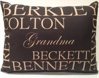 Custom Memory Pillow-  grand kids , wedding, anniversary, poem, quote, memories, friendships