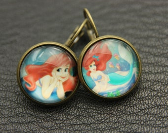 earrings little mermaid ariel