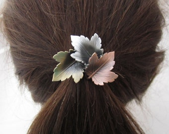 Leaves Ponytail Holder- Ponytail Holder- Leaves- Hair Accessories- Ponytail