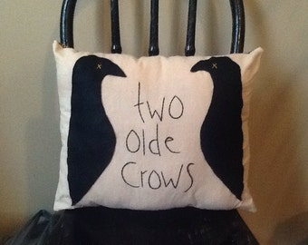 Two Olde Crows Pillow