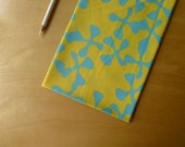 Fat Quarter - Wind Flower Turquoise Sunshine Yellow  - FQ (1) piece - Modern Quilting Sewing Cotton Fabric