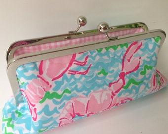 Lilly Pulitzer Lobstah Roll Fabric Clutch