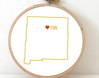 Missouri Map Cross Stitch Pattern Missouri Art Pattern