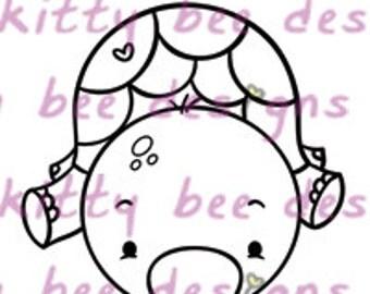 Honu (Turtle) Love II  Digital Stamp