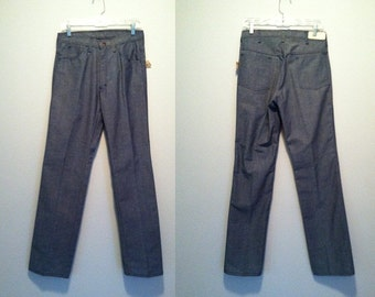 Vintage 1960s Mens Pants | Light Blue Jean Mens Pants | 32L Mens Pants